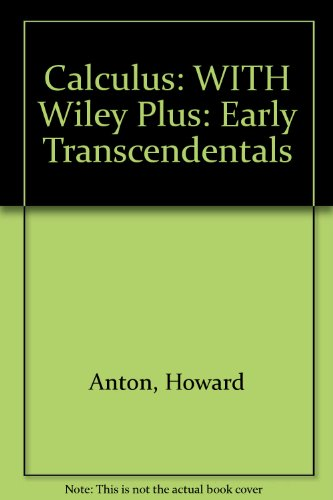 Calculus Early Transcendentals 10th Edition Anton Pdf