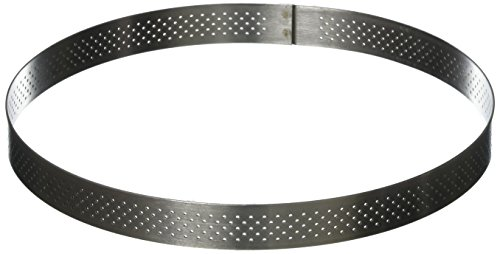 - PERFORATED TART RING, Round, in Stainless Steel, 0.75-Inch high O 8-Inch