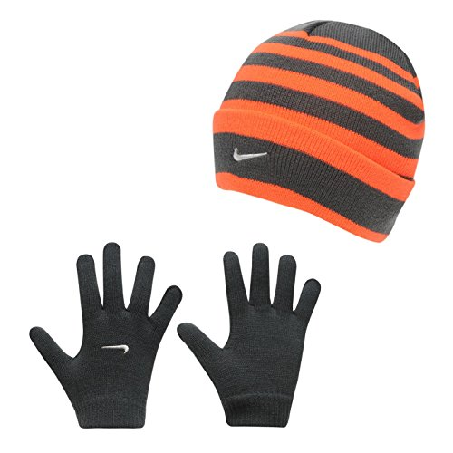 a0011449c9a Galleon - Nike Boys One Size 8 20 2 Piece Striped Hat And Glove Set
