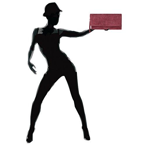 TL702 daim Rouge Sac pour à en femme main CASPAR ZFUgwqP