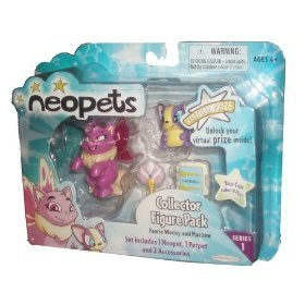 Neopets Collector Figure Pack series 1 : Faerie Wocky and Mazzew - Neopets Collector Series