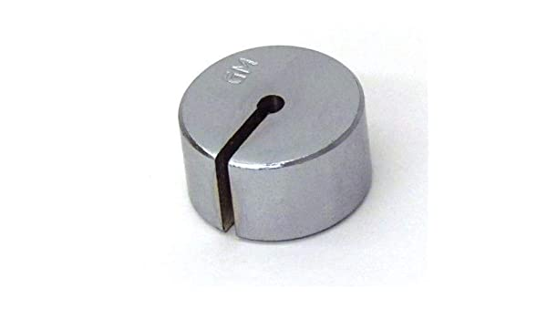 Slotted Weight Weights 50 Gram Steel Nickel Plated Pack of 10