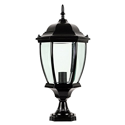 - CGJDZMD Column Lamp Outdoor Villa Luxury Artisans Post Lamp Simple Parliament Pillar Waterproof Wall Lamp Rust-Proof Aluminum Metal Pillar Lamp Pavilion Garden Path Light (Color : Black)