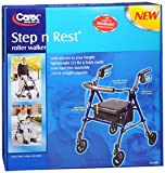 Carex Step-N-Rest Roller Walker, Pack of 4