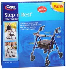 Carex Step-N-Rest Roller Walker, Pack of 3