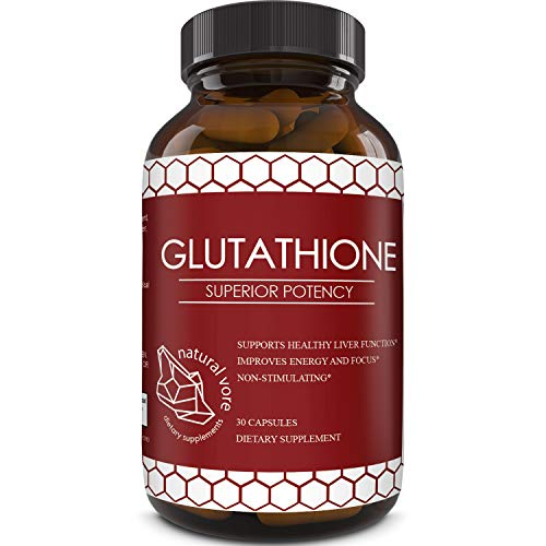 418jqsgBhxL - Best Glutathione Supplement - Natural Skin Whitening Anti-Aging Benefits Reduced L-Glutathione Pills for Men & Women - Pure Antioxidant Milk Thistle Extract Liver Health GSH Detox - Natural Vore