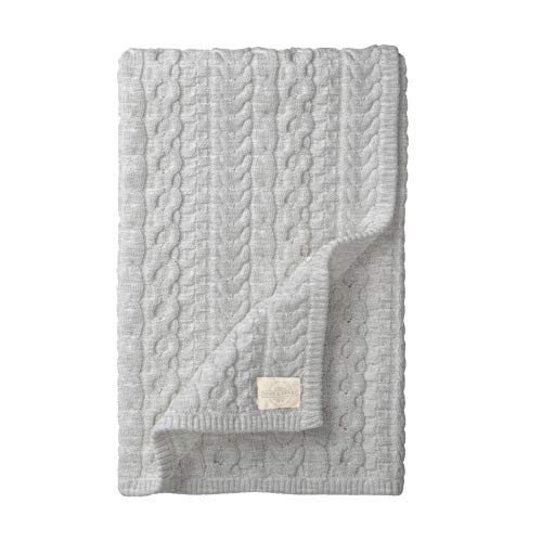 Hope & Henry Layette Cable Knit Blanket