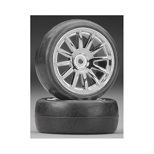 Slick Tires & 12 Spoke Chr Wheels, Assm/Glued 2pc by - Chr Spoke