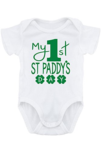 [Aiden's Corner - Baby St Patrick's Day Onesies (12 Months, White 1st)] (Baby St Patricks Day Clothing)