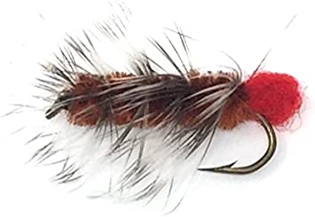 Uv2 Woolly Worm Black Streamer #10 Spirit River UV Woolly Worm Black #10