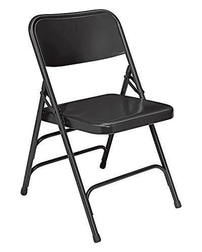 (National Public Seat Premium All-Steel Triple Brace Double Hinge Black - 4 Pack electronic consumers)
