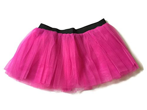 [Rush Dance Running Skirt Teen or Adult Princess Costume Runners Rave Race Tutu (Hot Pink)] (Hot Costumes For Teens)