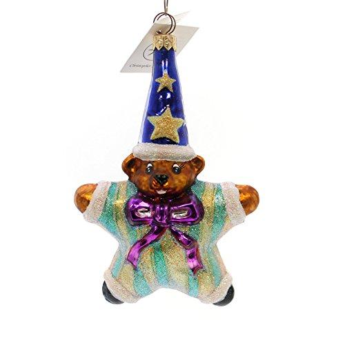 - Christopher Radko STARBEAR Glass Teddy Wizard Christmas 984030 Blue