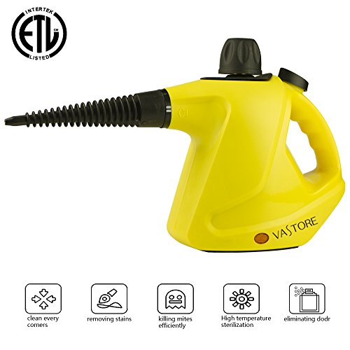 VASTORE 【450ML Large CAPACIT Handheld Steam Cleaner Lightweight Device for Deodorization and Sterilization, with 9-Piece Accessories for Stubborn Stains Removal in Bathroom, Kitchen& Much More