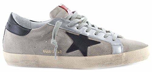 Golden Goose Scarpe Sneakers Uomo Superstar Sand Suede Black Star Italy Nuove