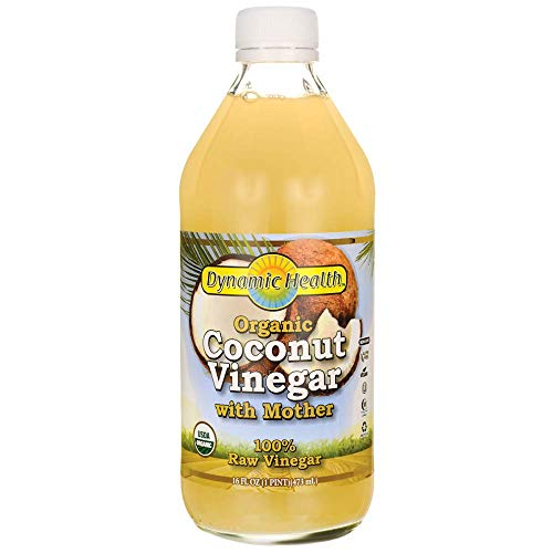 Coconut Vinegar w/Mother Certified Organic Dynamic Health 16 oz Liquid (Best Vinegar For Health)