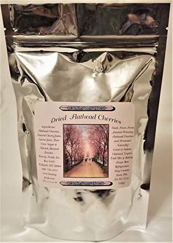(Montana Flathead Lakes Dried Cherries - 12 oz bag w/a Touch of Sugar - No Additives and Artificial Colors - Your Go To Snack (DFC-12) )