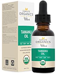 Organic Tamanu Oil - Nourishes and Soothes Dry, Cracked & Problematic Skin, Hair, Feet and Nails - Complete Organics by InstaNatural - 1 OZ