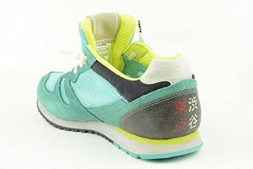 Schuhe nn234 Lotto Donna blau Gewebe VERDE ACQUA