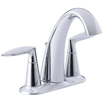 Kohler K 45102 4 Cp Alteo Widespread Lavatory Faucet Polished Chrome Touch On Bathroom Sink