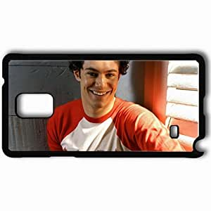 Personalized Samsung Note 4 Cell phone Case/Cover Skin Adam Brody Dark Haired Shirt Smile Hair Eyes Black