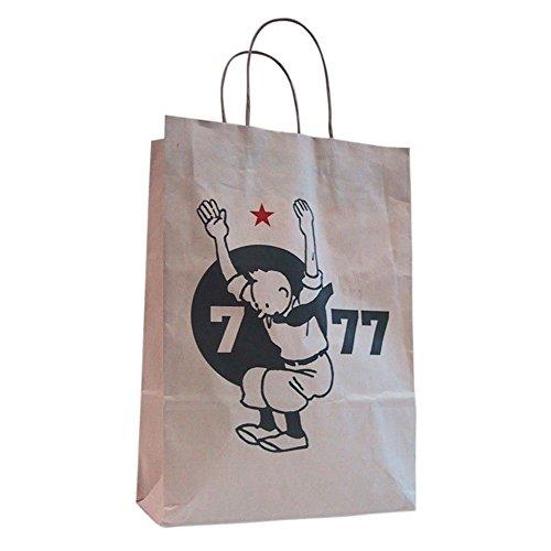 Bolsa en papel kraft reciclado Tintín de 7 a 77 años ...