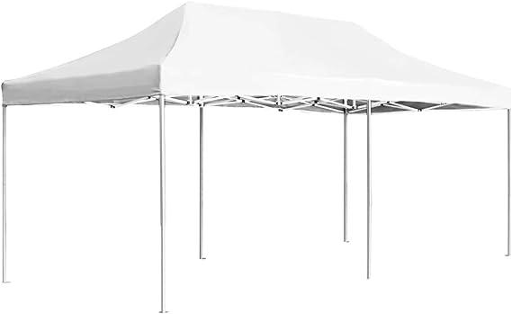 vidaXL Carpa Plegable Profesional Aluminio Cenador Pagoda Pérgola Fiestas Jardín Celebraciones Salones Estructuras Recintos Parasoles 6x3 m Blanco