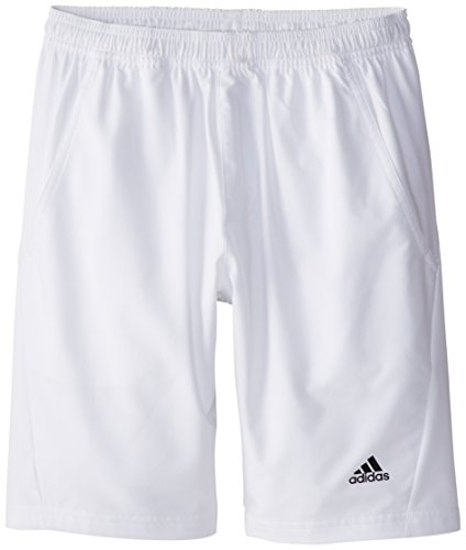 Adidas  Youth Boy's Tennis Sequencials Essex Shorts, Large, White/Black