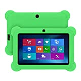 Transwon [2 Covers] 7 Inch Android Tablet Case for Dragon Touch Y88X Plus Kids Tablet, UJoyFeel 7 Inch Tablet, Tagital T7K Kids Tablet - Green