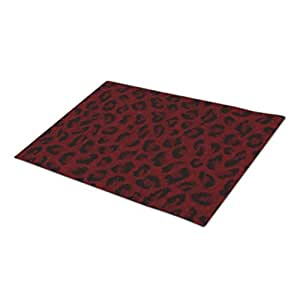 TPerse8 Decorative Door Mats Red Leopard Metal Door Mats