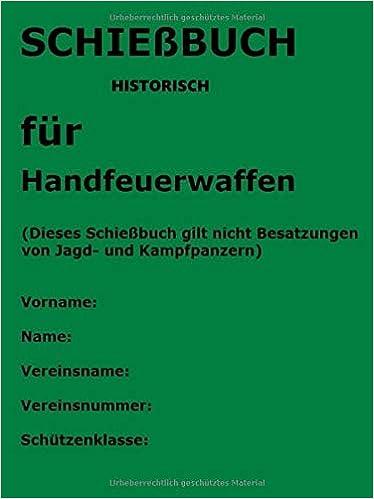 Schiessbuch - historisch