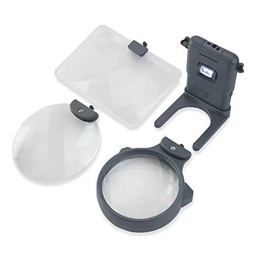 Carson 3-in-1 LED Lighted Magnifying Glass (HM-30) by Carson (Image #3)'