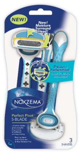 NOXZEMA Perfect Pivot 5-Blade Razors, 3 Count