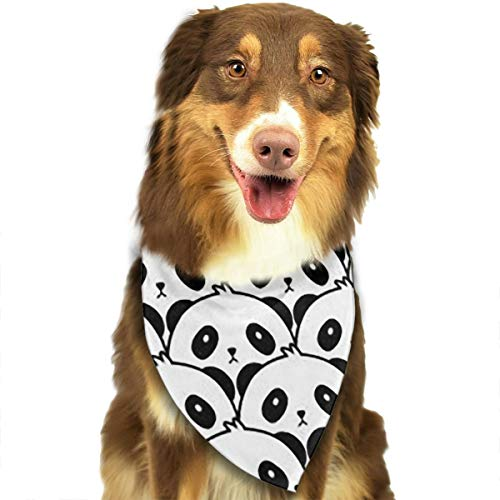 OURFASHION Funny Panda Bandana Triangle Bibs Scarfs Accessories for Pet Cats and Puppies.Size is About 27.6x11.8 Inches (70x30cm).