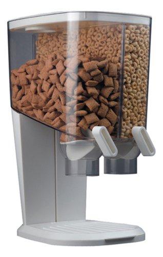 Rosseto EZ-SERV200 2-1/5-Gallon Cereal-and-Snack Dispenser, White and Chrome