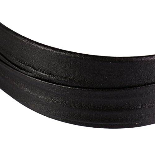 Ladies Wide Leather Band - MonkeyJack Vintage Hard Plastic Headband With Artificial Leather Covered Women and Girls wide Hair band - Black
