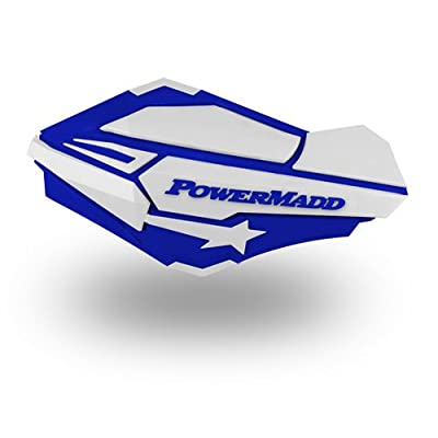 PowerMadd 34421 Blue/White Sentinel Handguard: Automotive