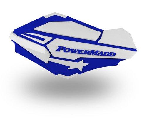 PowerMadd 34421 Blue/White Sentinel Handguard by PowerMadd
