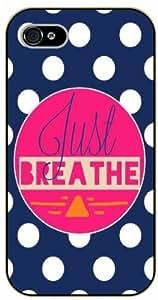 iPhone 4 / 4s Just breathe - black plastic case / Life quotes, inspirational and motivational / Surelock Authentic