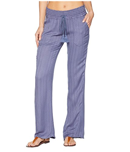 Roxy Women's Oceanside Pant Dobby Crown Blue Large 30.5