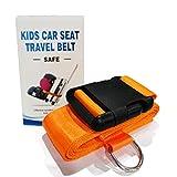 Car Seat Travel Belt to Suitcase,Car Seat Travel Strap to, Orange, Size No Size