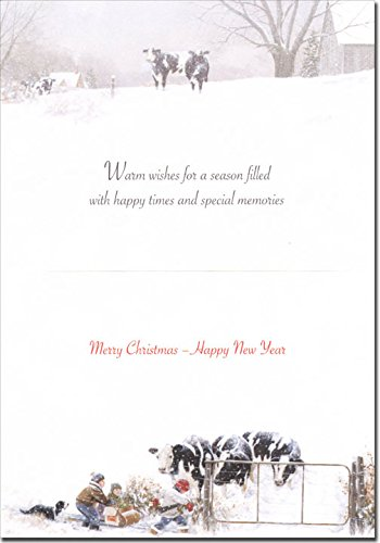 Children & Cows: My Turn - Box of 18 Christmas Cards Photo #2