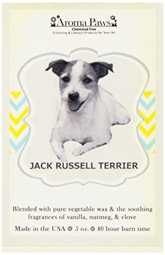 Aroma Paws Breed Candle in Glass with Gift Box, Jack Russell Terrier