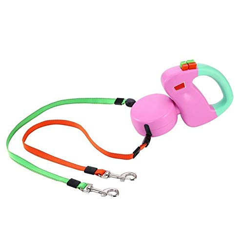 Leashes - Dual Pet Dog Leash Retractable Walking 3...