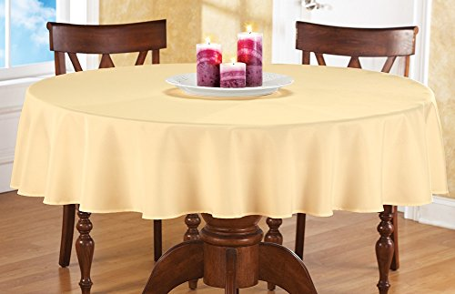 Basic Inch Round Tablecloth Yellow