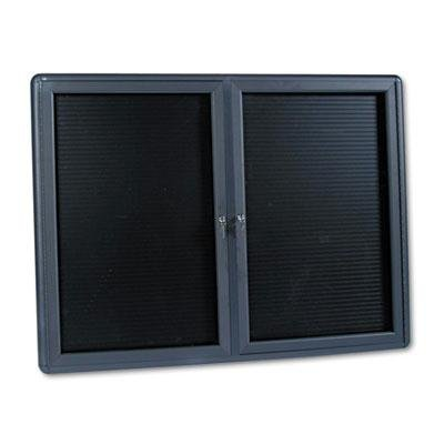 Brand New Quartet 2-Door Enclosed Magnetic Directory 48 X 36 Black Gray Frame by Original Equipment Manufacture