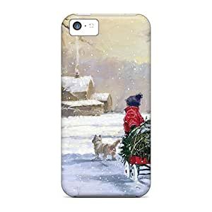 Awesome UAl2369XVjw GAwilliam Defender Tpu Hard Case Cover For Iphone 5c- Bringing Home The Christmas Tree