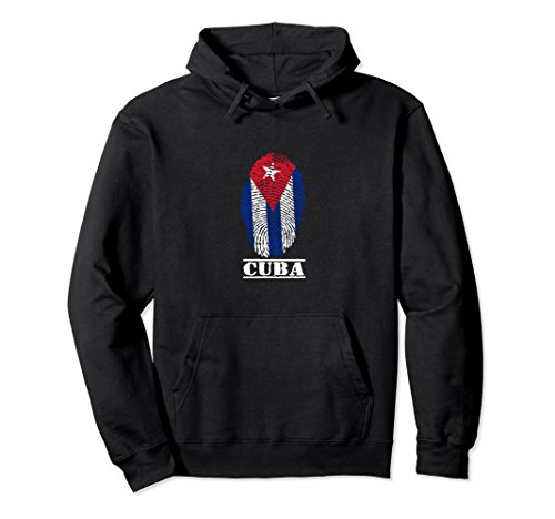 Unisex Cuba Hoodie For Men, Women: Cuban Hoodie Small Black