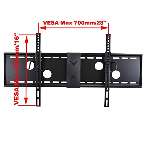 """VideoSecu Tilt Flat Screen TV Wall Mount Bracket for 37"""" 40"""" 42"""" 46"""" 47"""" 50"""" 52"""" 55"""" 58"""" 60"""" 62"""" 63"""" 65"""" 70"""" LCD LED Max VESA 700x400mm with 7 ft HDMI cable and Bubble Level MN4"""