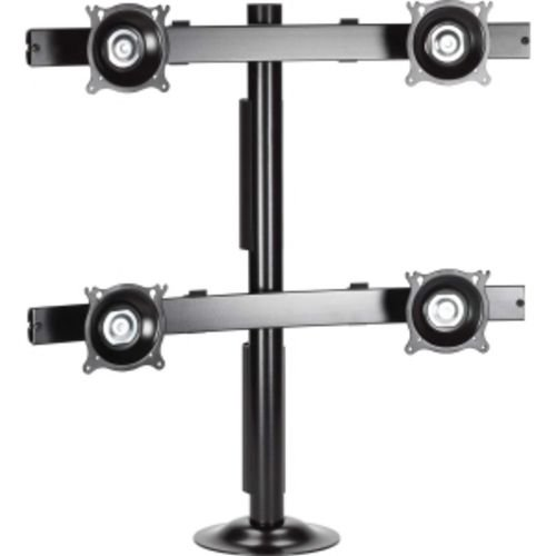 Quad Monitor Grommet Mount KTG440B - Mounting kit ( grommet mount ) for 4 LCD displays - steel - black - mounting interface: 100 x 100 mm, 75 x 75 mm